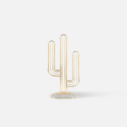 Coffee Capsule Holder Cactus - Gold