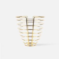 Fruit basket Linea Cone Gold