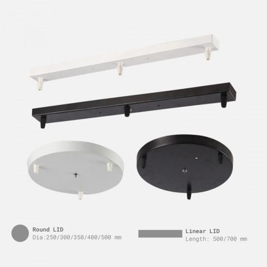 Smoky Black Glass Pendant, A Style