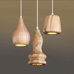 Decor Wood Pendant C