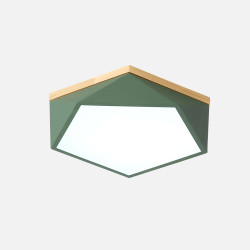 Pentagon Nordic Ceiling Lamp, Green, D42 [In-Stock]