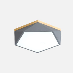 Pentagon Nordic Ceiling Lamp, Grey, D52 [In-Stock]