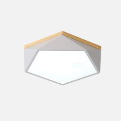 Pentagon Nordic Ceiling Lamp, White