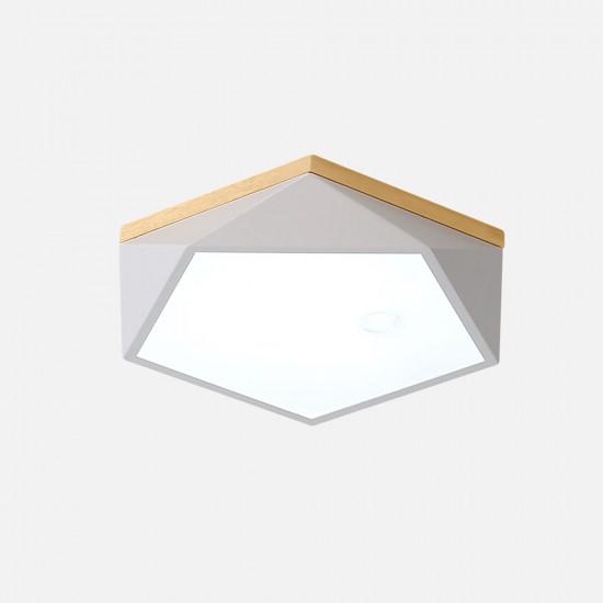 Pentagon Nordic Ceiling Lamp, White, D42 [In-Stock]
