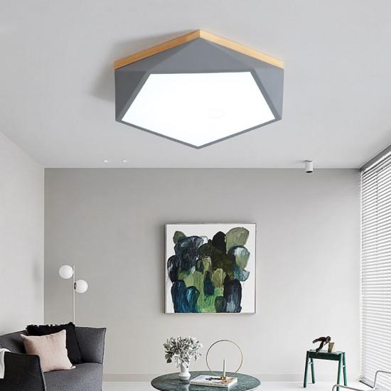 Pentagon Nordic Ceiling Lamp, Grey