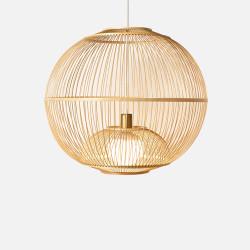 Handmade Bamboo Round Pendant