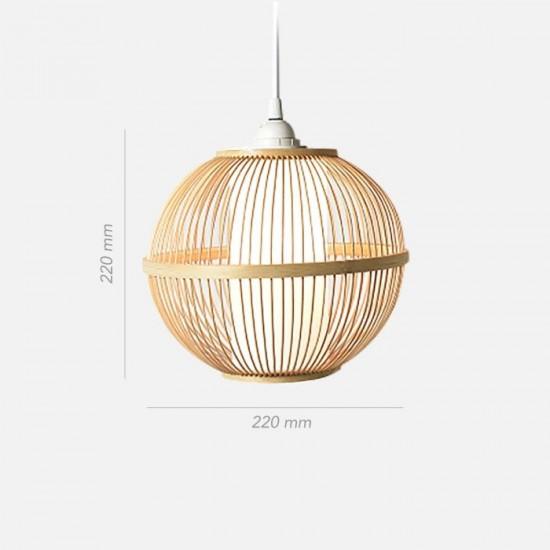 Handmade Bamboo Round Pendant V.2