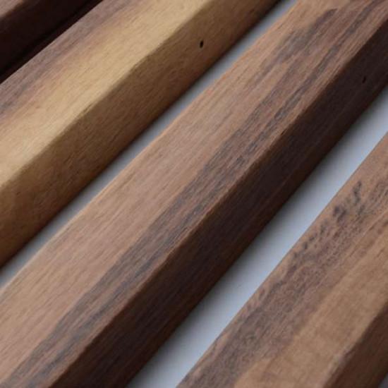 Linear LED Adjustable Natural Walnut Wood Pendant