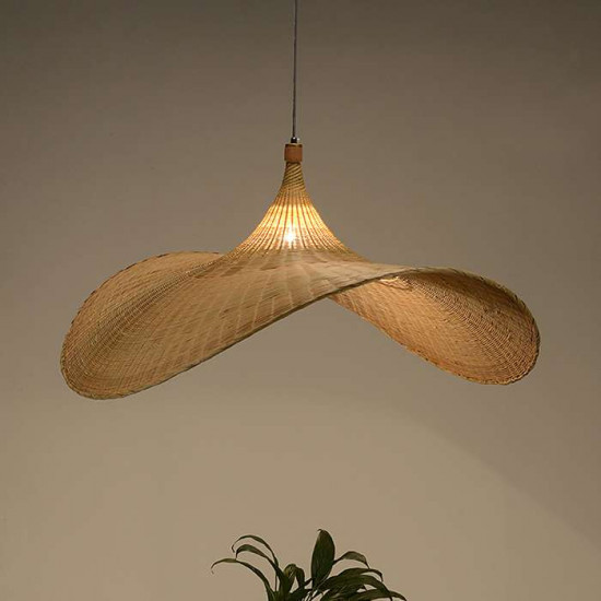 Handmade Bamboo Hat Pendant
