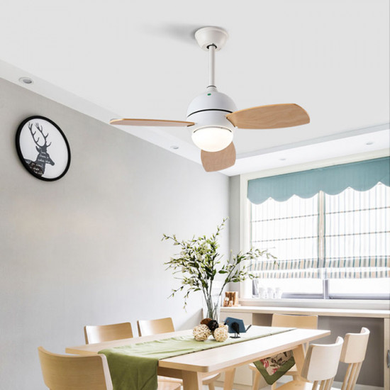 LED Ceiling Lamp with FAN, White