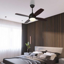 LED Ceiling Lamp with FAN, Black
