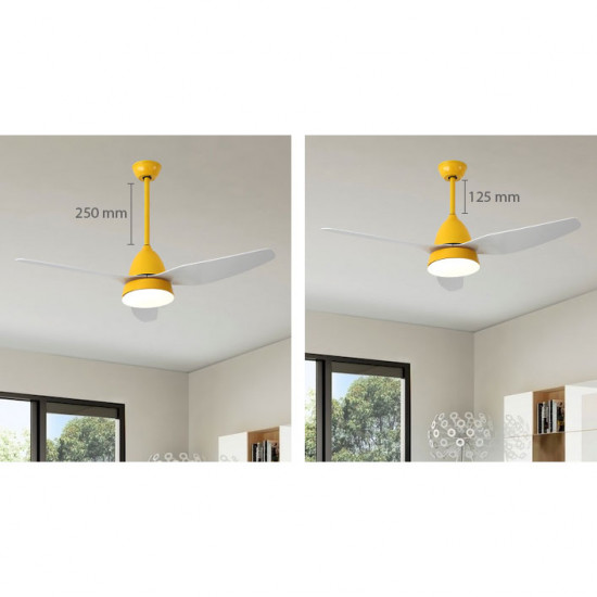 SIM Ceiling LED with Fan, Classic Grey