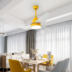 SIM Ceiling LED with Fan, Lemon Yellow