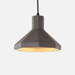 Concrete Modern Pendant, Dark Grey
