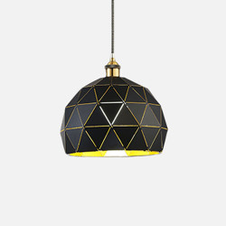 Geometry Pendant, Black