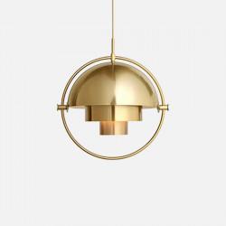 Comly Round Pendant, Brass
