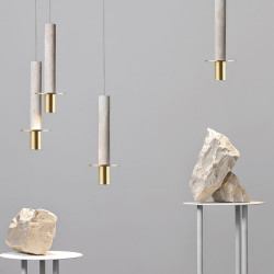 COMLY White Concrete Hanging Pole with Brass