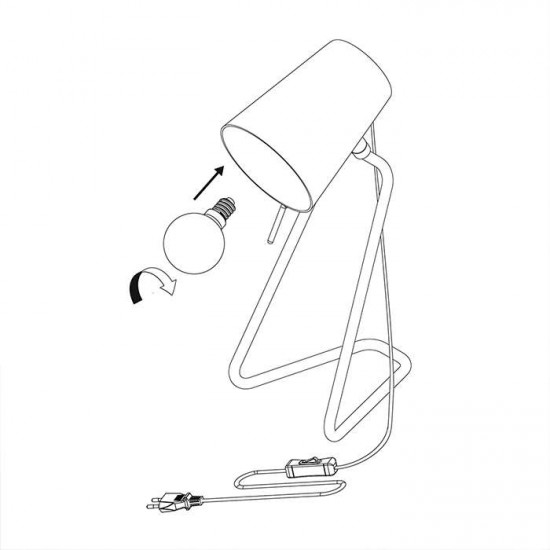 Z Table Lamp - Brass