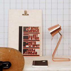 Z Table Lamp, Copper