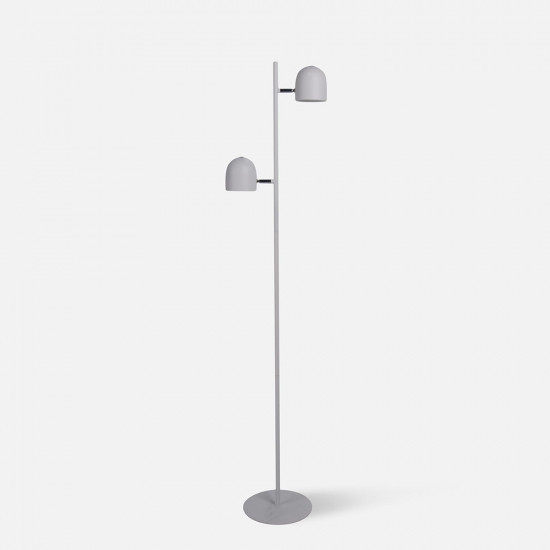 [Display] Floor Lamp Delicate, Matt white, with touch dimmer