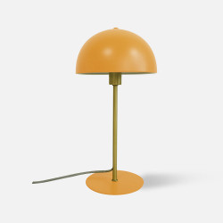 Table lamp Bonnet metal curry yellow