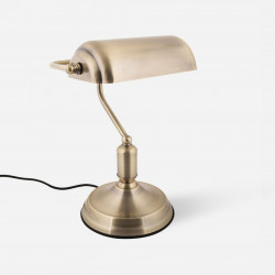 [SALE] Table lamp Bank Iron Antique Gold Plated