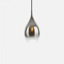 Pendant lamp Drup chrome shadow