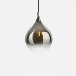 Pendant lamp Drup Large chrome shadow