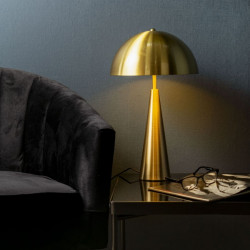 Table Lamp Sublime metal brushed gold