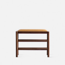 DANDY Bench with Shoe Shelf L60, Walnut