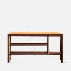 DANDY Bench with Shoe Shelf L90, Walnut