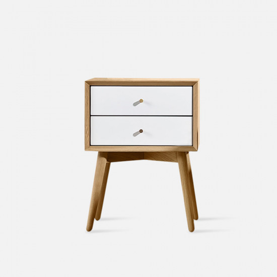NOR Bed Side Table White