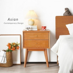 NOR Bed Side Table, Cherrywood