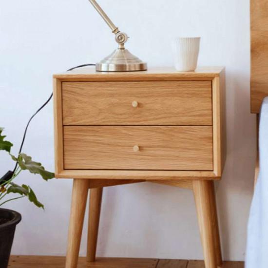 NOR Bed Side Table, Oak