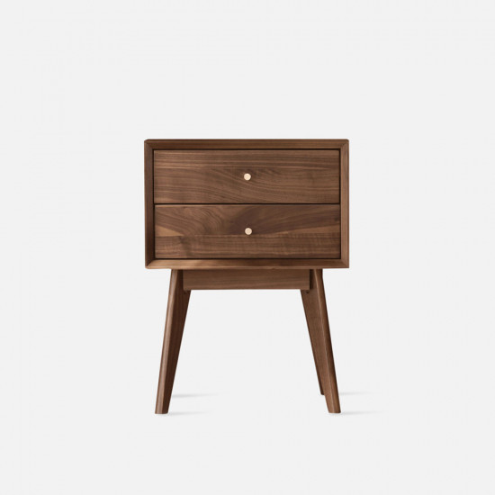 DANDY Bed Side Table, Natural Walnut