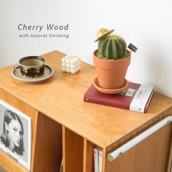 NADINE Bedside Table, Cherrywood