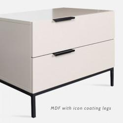 NOVA White MDF Bedside Table