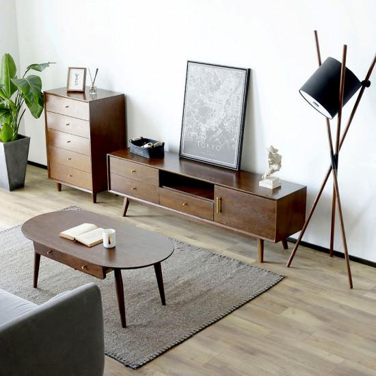 [SAEL] DOLCH TV Board, Dark Walnut