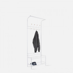 Cloth rack Saturnus white w. wooden balls [Display]