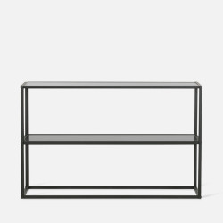 SIMP Two Layers Metal Shelf W60-1200, Matt Black