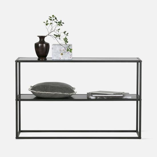 SIMP Two Layers Metal Shelf W60-1200, Matt Black