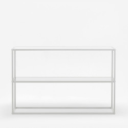 SIMP Two Layers Metal Shelf H80, Matt White