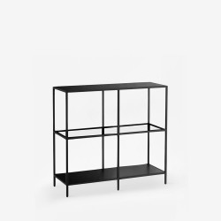 SIMP Four-Grid Metal Shelf W80xW120, Black