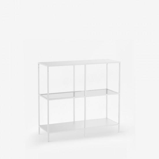 SIMP Four-Grid Metal Shelf W80-120, White