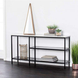SIMP Grid Shelf with Natural Stinered Stone Top