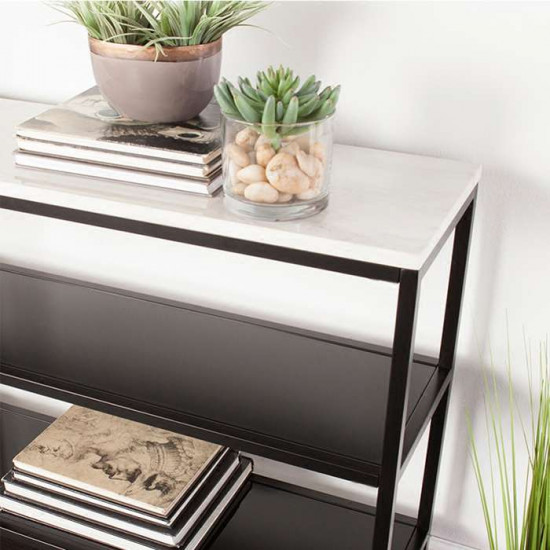 SIMP Grid Shelf with Natural White Marble Top