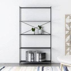 SIMP Cross Metal Grid Shelf W60 White