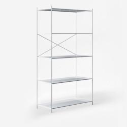 SIMP Cross Metal Grid Shelf W60 White