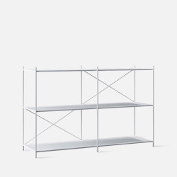 SIMP Cross Metal Grid Shelf W120 White