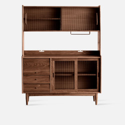 NADINE Cupboard L130, Dark Walnut